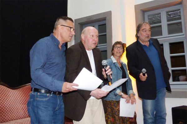 Lesung mit Freunden Klaus Dieter Regenbrecht, Andreas Klein, Jutta Lehnert